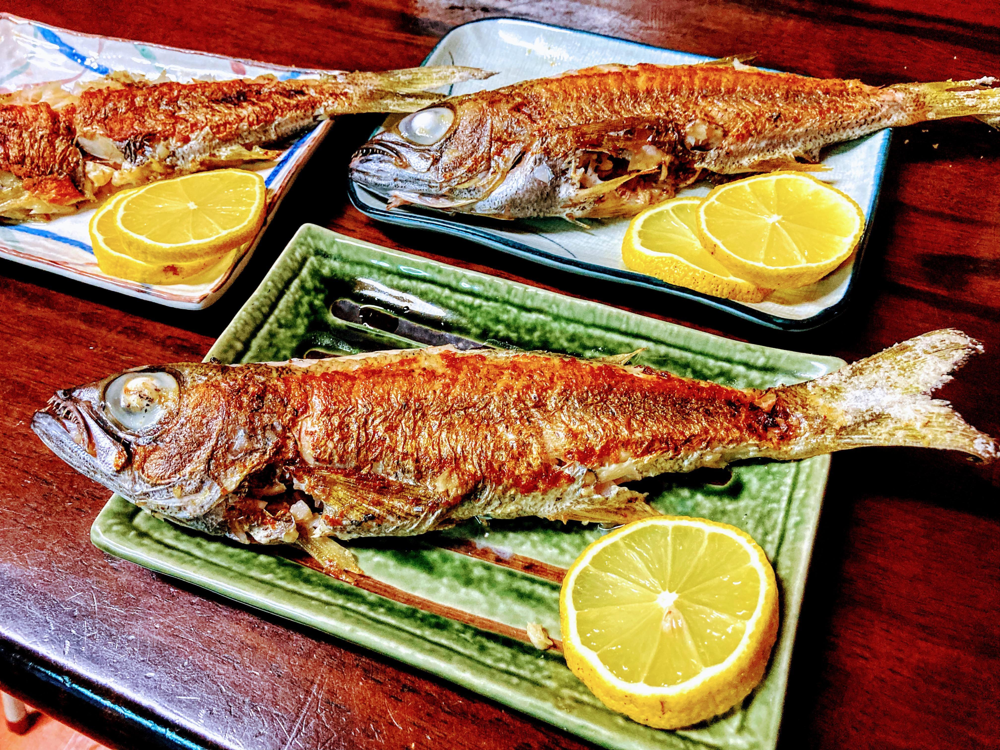 やっぱりこの魚は塩焼きが最高ですね♪