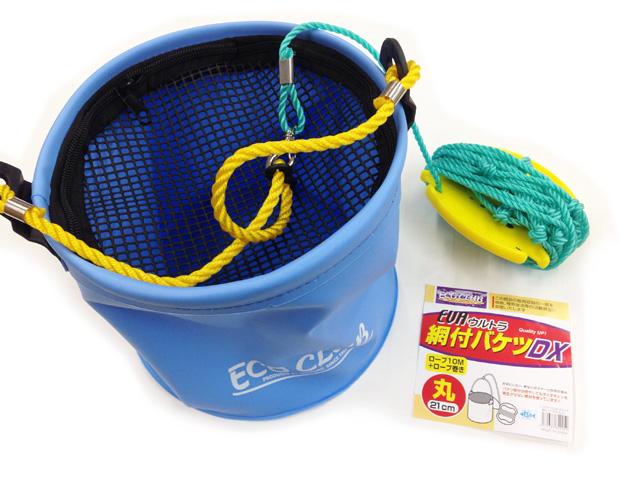 ロープ10m付きで高い場所からでも使用可能。