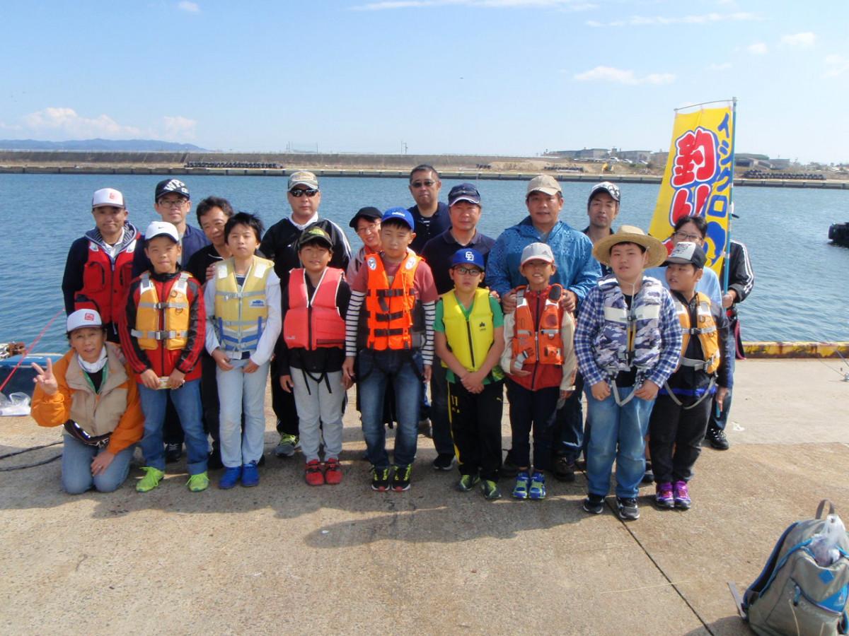 2018年10月20日(土曜日)一色漁港親子釣り教室集合写真