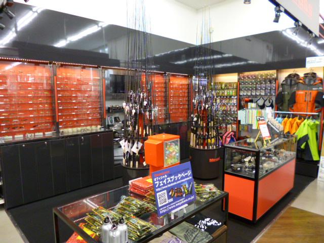 イシグロ西春店店内「メガバスショップinショップ」