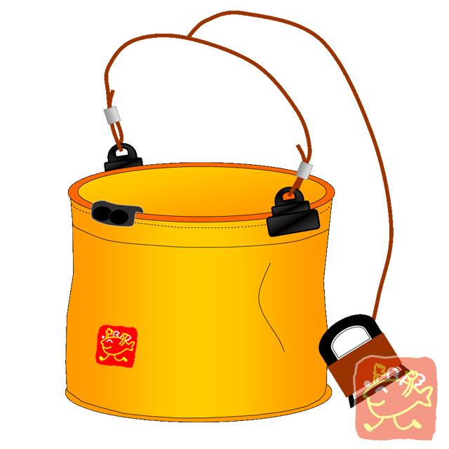 (堤防釣り)ロープ付き水くみバケツの使い方