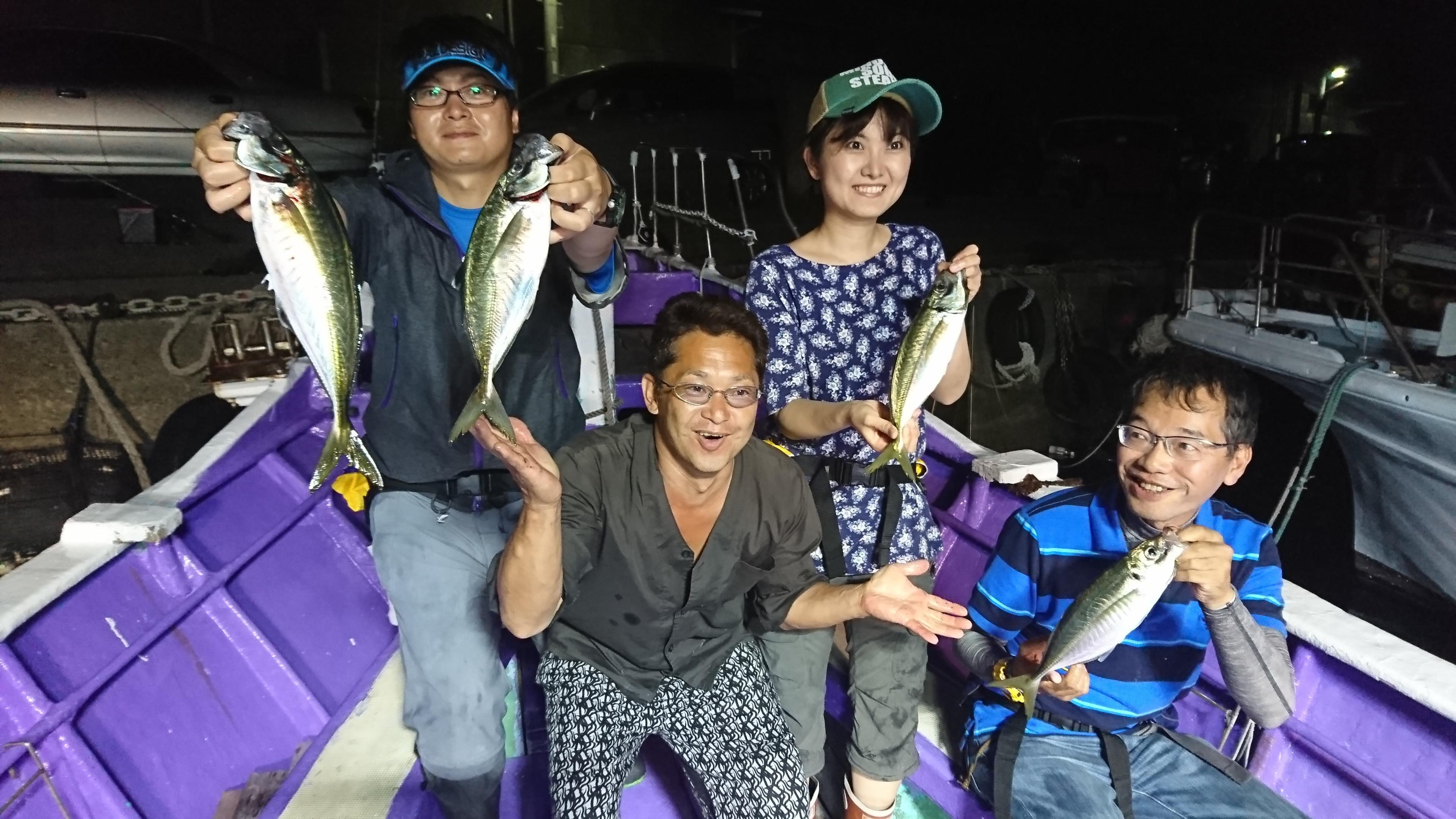 沼津港 大翔丸さんで良型アジ釣れました!!