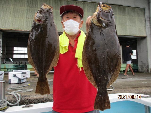 こちらの常連様も大山夏ビラメを釣り上げましたよッ(^-^)