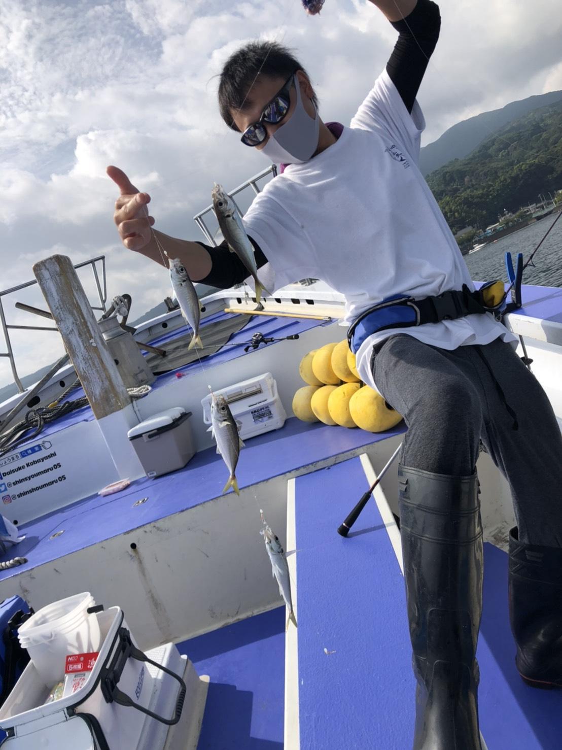 アジは入れ食いです!食べても美味しいアジなのでお土産に最高です!イシグロオリジナル「漁サビキ ピンクスキン」を使用。沼津沖のアジサビキ釣りに対応する太ハリス仕掛けで釣れました!