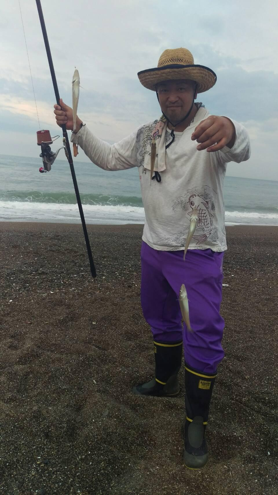 最大23センチ♪波打ち際でも釣れました♪