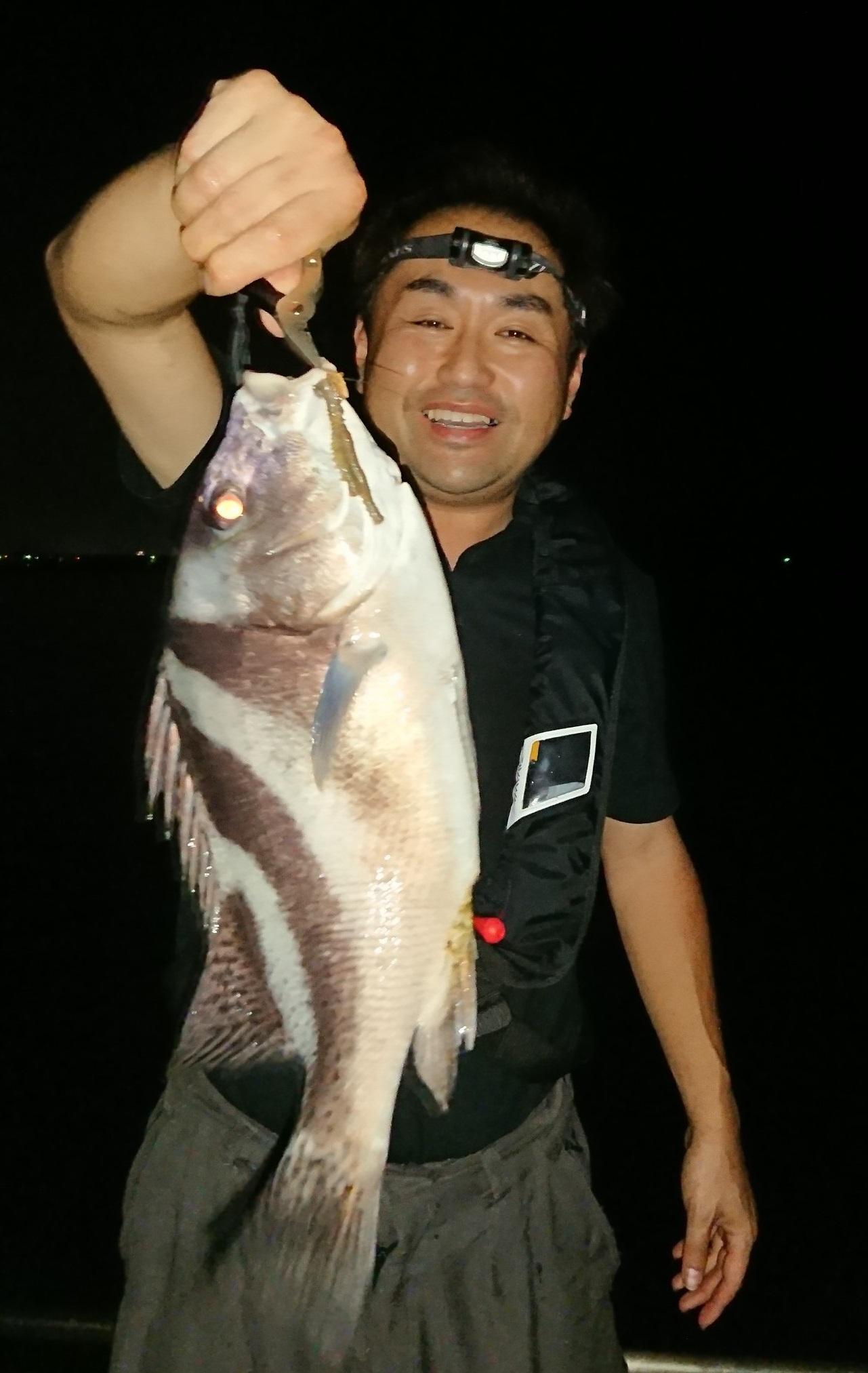 ちょい投げ釣りで釣れました エサはアオイソメ2本掛け