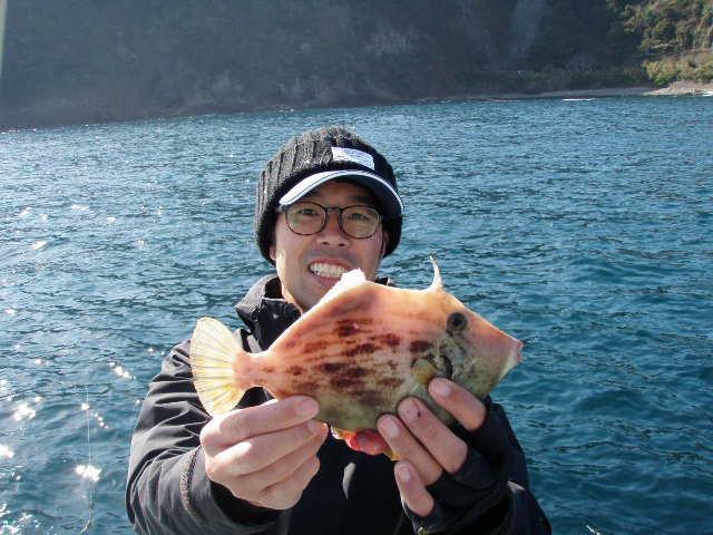 サイズの良いカワハギが釣れます!