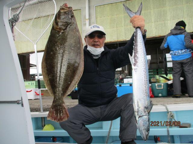 いつもの常連様は肉厚ろくまるOver寒ビラメと念願のメタボザワラを釣り上げましたッ(^-^)