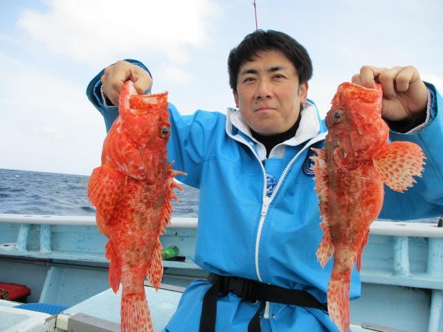 いつもの常連様はデカ鬼カサゴを沢山、釣り上げましたよッ(^-^)