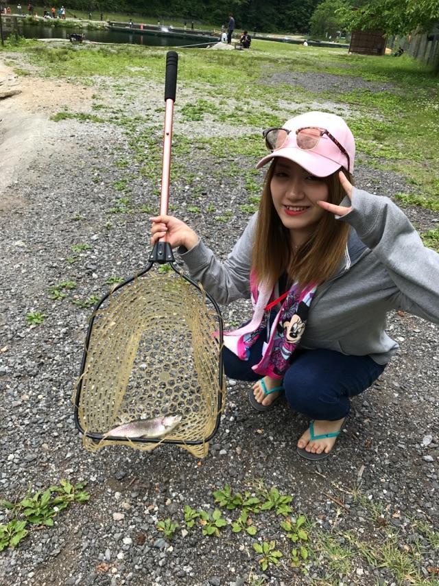 初めての釣り!一日でかなり上達しました。