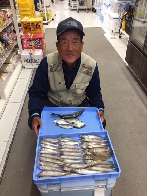 釣りの帰りに御寄り頂き、釣果拝見させていただきました。常連の柴田様流石です!