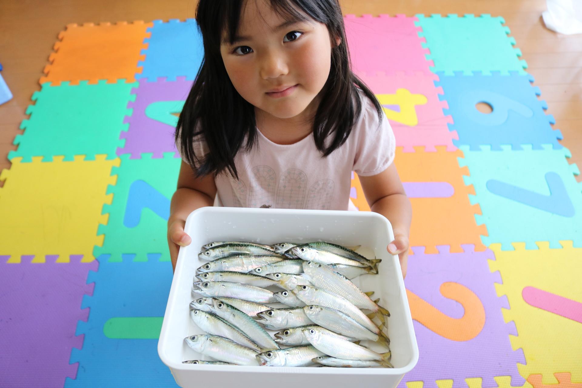 いただいたお魚もありますが、娘も大満足♪