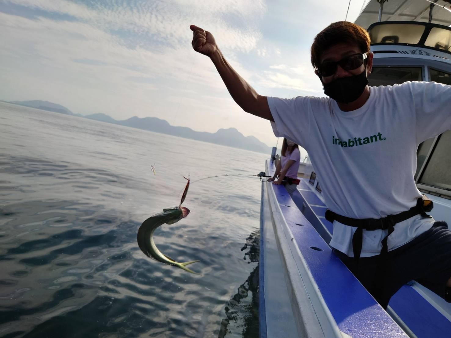 シイラの活性はMAX!!です!最大で80cm前後のシイラが釣れました!