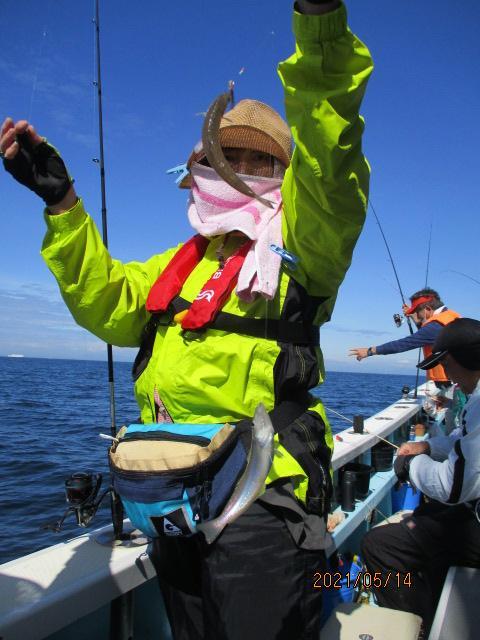 今日も釣りガールも『梅雨モロポチャギス』を沢山、釣っていただきましたよッ(^-^)