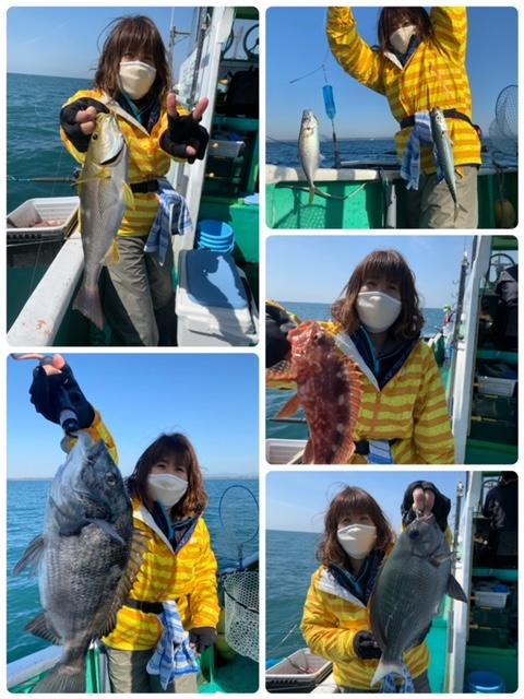 他にも多彩なゲスト!!サバ、イサキ、クロダイ、メジナ、カサゴも釣れました(^^♪