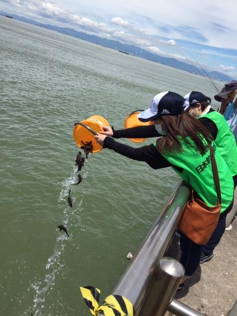 今回は日釣振メンバー、名古屋港管理組合様などの少人数で実施しました。
